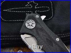 07001Star Lord Flipper DAIDO D2 Blade Carbon Fibre Handle KVT Ball Bearing Knife