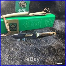 1967 Vintage Puma 116397 Hunter's Pal Knife Stag Handles Sheath Mint In Box A19