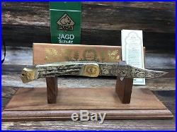 1973 Vintage Puma CK1769 Commemorative Knife Stag Handles & COA Mint In Case