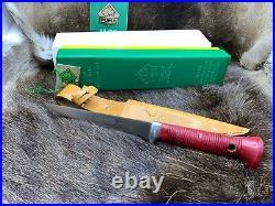 1988 Puma 6362 Vintage Mariner Knife & Sheath Red Handle With Tag in G / Y Box