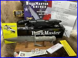 1st Model Buck 184 BuckMaster Knife With Factory Sheath & Papers Pristine Box