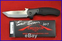 2017 Custom Ernest Emerson Black Roadhouse, Bolsters withBlack Checkered Micarta