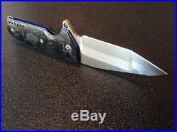 Allen Elishewitz Custom Flipper Tank Knife, Carbon Fiber, CPM S90V, Full Custom