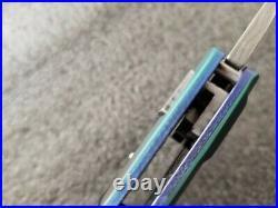Allen Elishewitz Tetra Lock Origin, Damasteel, Zirconium, C300 Carbon Fiber