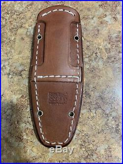 Bark River Knife CPM Cru-Wear Bone White Micarta Green Liner