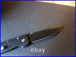 Bob Terzuola All Black ATCF Titanium Frame Tactical Folder (lower price)