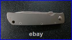 Bob Terzuola Model One Custom Made all Ti Linerlock Tactical Folding Knife