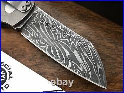 Boker Cox Damascus Folding Knife G10 Ti Handles Anso Designed Solingen Germany