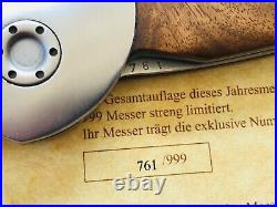 Boker Spyderhole Damast Jahresmesser 2006 Damascus Annual Year knife 761/999