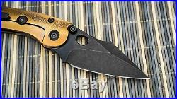 Borka Blades Custom Stitch, Blk DLC M390, Orange Peeled Bronze Ano Ti Scales