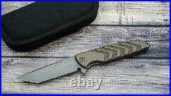Brian Nadeau/Sharp By Design Typhoon, Acid Tumbled S35VN, Bronze Ano Ti Scales
