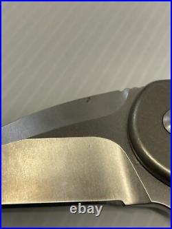 Brous Blades SSF XL (Silent Soldier) Stonewashed Titanium Finish D2 Flipper