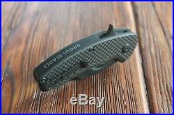 Brous Blades Silent Soldier Carbon Fiber Flipper Knife (black)