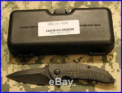Brous CALIBER Flipper Knife Acid Stonewash D2 Carbon Fiber 500 Made CHOICE S/N