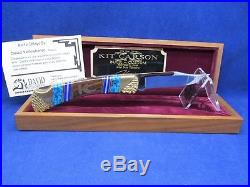 Buck 110 David Yellowhorse Kit Carson Knife Mint With COA & Wood Display Case