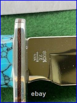 Buck 119 custom Spiral Buffalo/ Turquoise