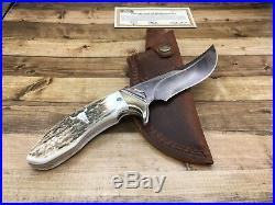 Buck Bill Cody Ltd. Edt B406EKSLE Kalinga Pro Knife Elk Handle Sheath Mint
