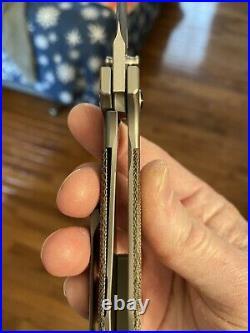 Burchtree Bladeworks Secant Green Micarta Folding Knife NEW RARE