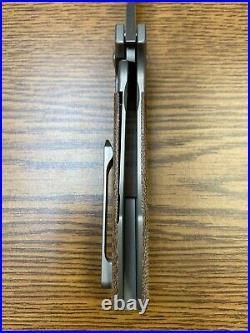 Burchtree Bladeworks Secant Knife Natural Micarta Titanium (3.125 Satin) M390