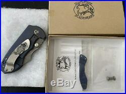 Burchtree Bladeworks V3 MidTech Pocket Knife Steel Flame Koi Pocket Clip