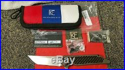 CKF Custom Knife Factory Jake Hoback Kwaiback Bronze Dust Carbon Fiber Edition