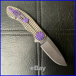 CURTISS KNIVES AERO FRAG pattern with Purple Titanium Hardware