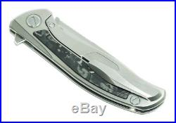 CUSTOM Shirogorov F95 S90V Custom Division titanium Marble CF inlay Russia NIB