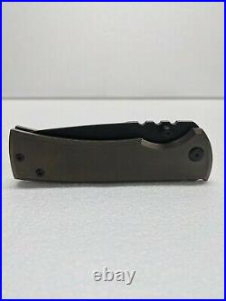Chaves Knives Exclusive Chisel Ground Redencion 229 Bronze Titanium PVD Blade