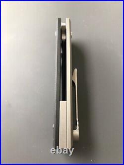 Chaves Knives Liberation 229 Titanium Black G10 Beautiful M390 Blade BNIB