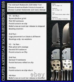 Chaves Knives Redencion 228 MidTech Knife CAMK V2 High Voltage Black N Blue