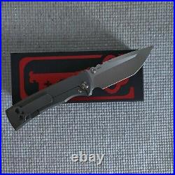 Chaves Knives Redencion 229 Tanto. Stone Washed Titanium-Machine Blade