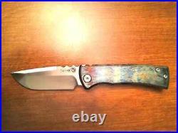 Chaves Knives Ultramar 229 Titanium Drop Point Knife Custom Entropic Finish