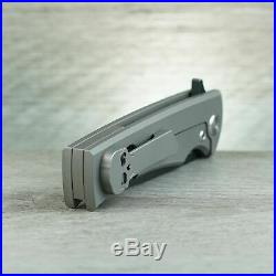 Chaves Knives Ultramar Liberation Flipper PVD Blade Black Micarta Handle Insert