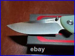 Chaves Liberation 229 Frame Lock Folding Knife Ti/Jade G-10 (3.75 Satin)