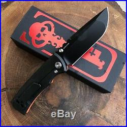 Chaves Ultramar Redencion Drop Point Ti Code Orange G10 Handle PVD Blade Knife