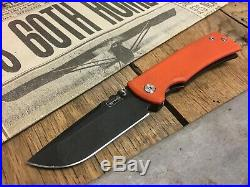 Chaves Ultramar Redencion Drop Point Titanium Framelock Knife PVDCode Orange G10