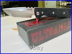 Chaves Ultramar T. A. K. Liner Lock Knife Drop Point Black G-10 (2.75 Satin)