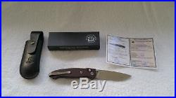 Cheburkov Scout M390 Folding Knife Red Carbon-Copper Anodized Liners-Axis Lock