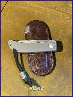 Chris Reeve/Harsey Designed Impinda Slipjoint Knife withTitanium Bead From PSD
