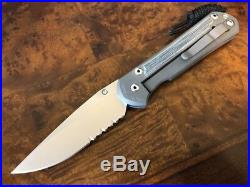 Chris Reeve Knives Large Sebenza 21 S35VN Serrated Micarta Inlay Left Handed