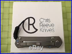 Chris Reeve Knives Large Sebenza 21 Stonewash Titanium Handle S35VN