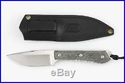 Chris Reeve Knives Nyala Drop Point S35VN Black Micarta with Black Sheath