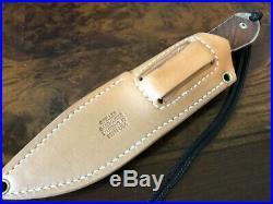 Chris Reeve Knives Nyala Drop Point S35VN Natural Cavas Micarta with Sheath