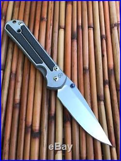 Chris Reeve Knives Sebenza Carbon Fiber Inlays Left Handed