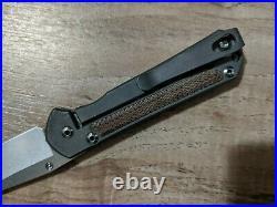 Chris Reeve Knives Small Sebenza 21 Natural Micarta Inlay Insingo Blade