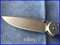 Chris Reeve Knives Small Sebenza 21 Stonewash Plain Edge S35VN
