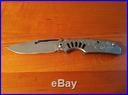 Chris Reeve Knives Ti-Lock Blue Steam Version with Millit Custom Milled Ti Clip
