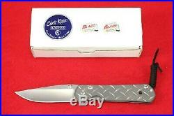 Chris Reeve Large Sebenza 21 2010 Diamond Plate S30v, Silver Contrast Knife