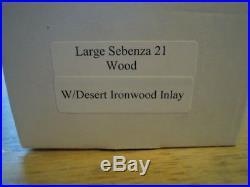 Chris Reeve Large Sebenza 21 Desert Ironwood Inlay