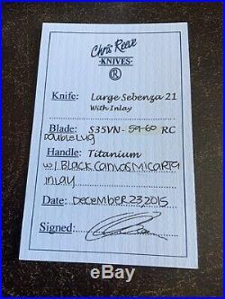 Chris Reeve Large Sebenza 21 Double Lug Micarta Extra Skin